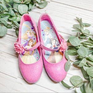Little Girl Pink Glitter Heels